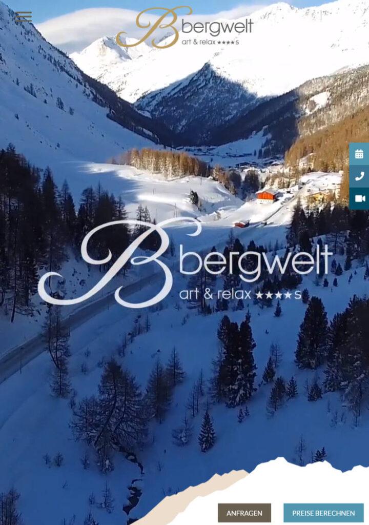 webseiten übersetzen, diesmal für das Hotel Bergwelt