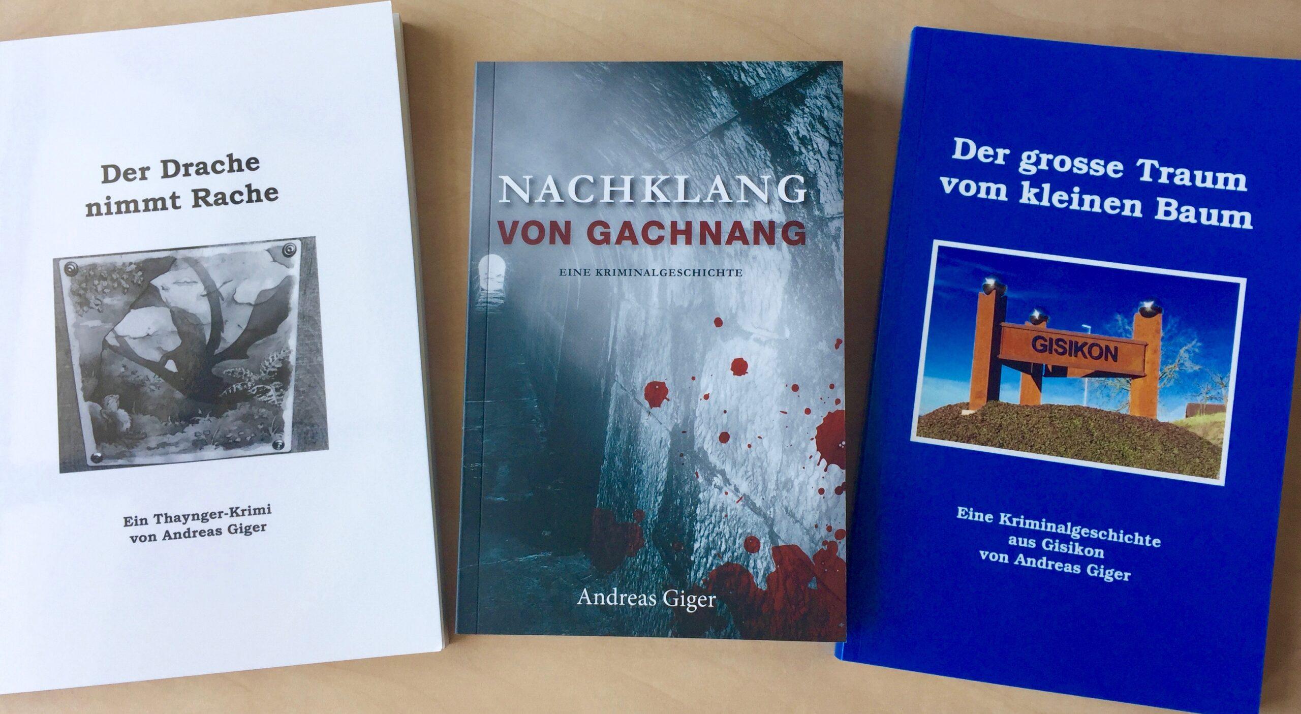 Drei Marken Krimis von Andreas Giger